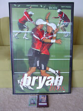 BRYAN BROTHERS Bros Ace Authentic TENNIS POSTER + MARDY FISH or ANDRE AGASSI