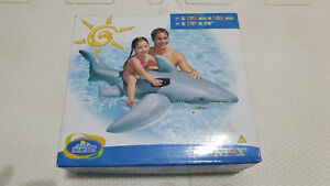 Inflatable 2006 Intex Realistic Shark Ride on Pool Toy New In Box