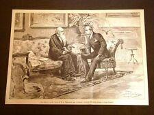 Re Umberto I di Savoia nel 1887 Visita al Presidente Consiglio Agostino Depretis