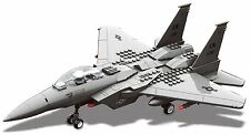 Kids Toy Interlocking Building F15 Fighter Jet Airplane Model Toy Kit Blocks