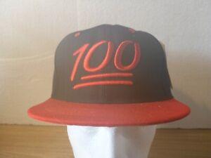 100 Emoji - Red & Black Snapback Hat
