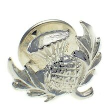 Scottish Thistle Lapel Stud Pin Brooch Welded Bliss British Sterling 925 Silver.