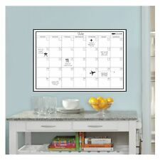 White Monthly Calendar wandpops LAMINATED DRY REMOVABLE + Pin 61x91 cm