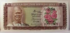 1984 Sierra Leone 50 Fifty Cents Banknote P 4e D/16 783386