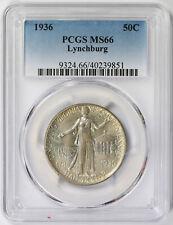 1936 Lynchburg Silver Commemorative Half Dollar 50C MS 66 PCGS