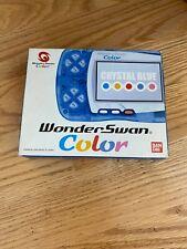 Bandai WonderSwan CRYSTAL BLUE Boxed as is NOT WORKING