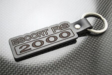 Escort RS 2000 Leather Keyring Keychain Schlüsselring Porte-clés Ford RS2000 Mk5