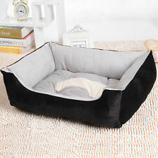 Black Washable Soft Puppy Pet Dog Cat Basket Nesting Bed Mat Waterproof 70*52 cm