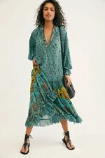 NEW! Free People Feeling Groovy Maxi Dress in Teal, size large