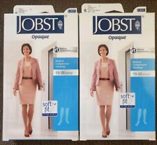 Jobst Medical Compression Stockings (2) Knee high-15-20 mmHg Small Black/Natural