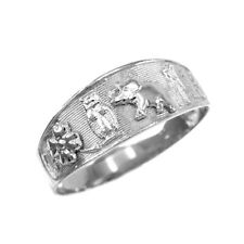 Elephant, Horseshoe, Thirteen, Flower Ring 925 Sterling Silver Lucky Owl,