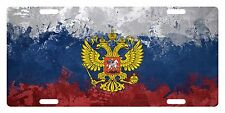RUSSIA  Flag Custom License Plate Russian Emblem Coat Of Arms Paint Version