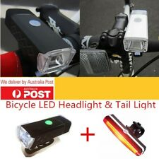 USB Rechargeable Bicycle Light LED Set Bike Front Headlight Tail Warning Light