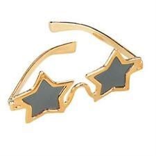 New Gold Star Shaped Fancy Dress Novelty Fun Glasses P686