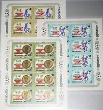 Russia Unione Sovietica 1986 KLB 5612-14 5463a-5a Soccer World Cup Mexico CALCIO MNH