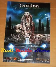 POSTER PROMO THERION CELEBRATORS OF BECOMING 84 X 59,5 cm cd dvd vhs lp live mc*