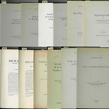 * Lot de 12 tirés-à-part : Sigillographie de Belgique, Suède et Pays-Bas - TAP