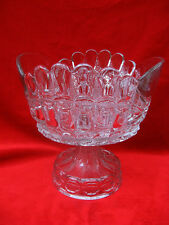 """1898 EAPG THOMPSON GLASS  """"BOWTIE"""" PATTERN LARGE COMPOTE, RARE"""
