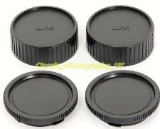 TWO Leica M Rear Lens Cap for NOCTILUX Summilux + TWO Body Caps for Leica M9 M8