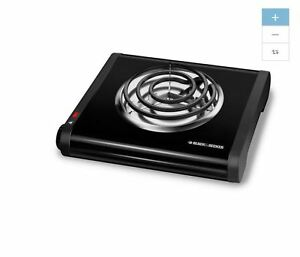 NEW Black 11 In Plastic Electric Hot Plate Hotplate Burner Stove Portable Camp