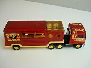 Vintage 1970's BUDDY L TRUCK & HORSE TRAILER-Metal & Plastic
