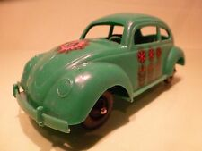GERMANY USA PLASTIC VINTAGE  VW VOLKSWAGEN BEETLE KAFER - GREEN L19.0cm - GOOD