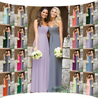 Chiffon Bridesmaid Dress Ball Gown Prom Long Wedding Party Evening Formal 8-26