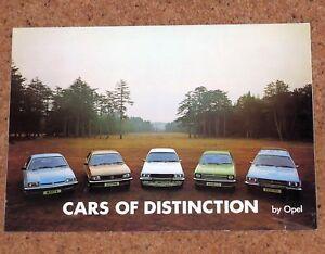 1976 OPEL RANGE Sales Brochure - Kadett GT/E Manta Ascona Rekord Commodore GS/E