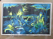 Large Vintage Black Light Poster 1970 the Storm Inv#G992
