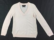 Rag & Bone Pink Cashmere Long Sleeve Knit V-neck Sweater Size XS Extra Small