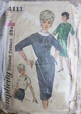 VTG 50s 60s Simplicity Misses Suit & Blouse Sewing Pattern  Size 14 Bust 34
