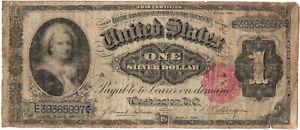 Series 1891 $1 Martha Washington silver certificate