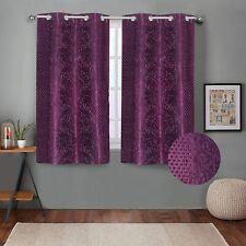 Embossed Self Design Curtains Window 5 feet- Pack of 2 Wine