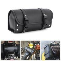 Motorcycle Handlebar Bag Tool Saddlebag Kit Pu Leather Storage Holder Pouch