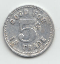 Lill's Lunch Nook token - Good For 5 Cents in Trade - Easton Minnesota - 653
