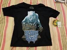 Black Panther Marvel Glow In The Dark Boys Shirt Sz 4/5 xs