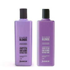 JUUCE Silver Blonde Shampoo & Conditioner 375ml, Remove Yellow. Intense Toning