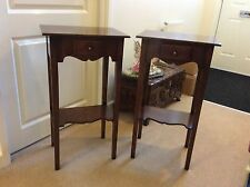 dark oak lamp tables a pair for sale