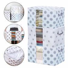 2/1x Foldable Home Closet Storage Bag Clothes Quilt Blanket Zipper Organizer Box