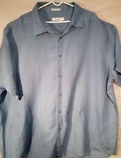 Calvin klein mens 4X blue casual button down short sleeves