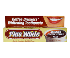 Plus White The Coffee Drinkers Whitening Toothpaste Cool Mint Flavor 3.5 oz 100g
