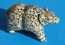 Large Carved Dalmatian Jasper Bear  (DJA2)