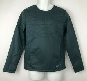Nike Running Jacket Green Water Repel Thermore Repel Insulation Pullover Mens S
