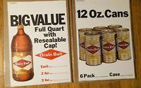 "2  Different 1974 Grain Belt Beer Advertising Displays 18"" X 12.5"" New/Unused"