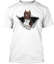 Torn American Pit Bull Terrier Hanes Tagless Tee T-Shirt
