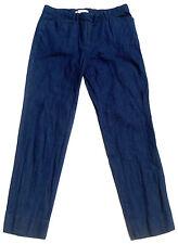 . Gap Career Slim Crop Chambray Cigarette Pants Dark Denim 2 Regular r38