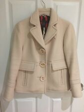MARC JACOBS Collection Blush Cream Ivory Wool Jacket Coat XS /0-2 $600