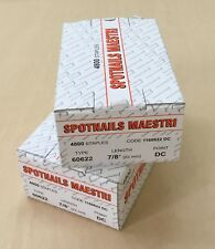2 Boxes of Spotnails Maestri Staples 60622/ ME606 22mm Staples/ 1160622 DC /