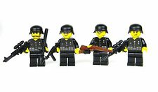custom German WW2 wehrmacht soldiers squad Black Uniform made with real LEGO(R)