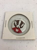 Vtg Wisconsin Badgers Bucky The Badger Pin
